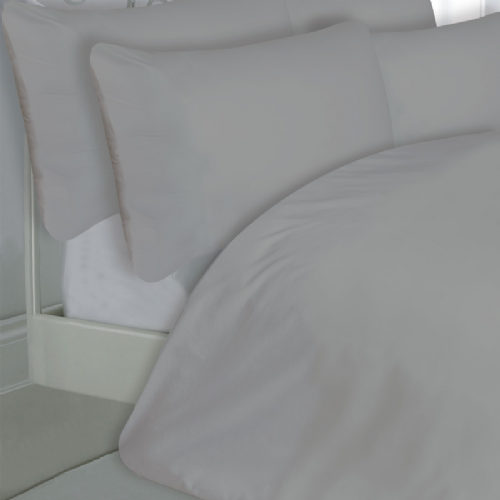 GREY SILVER COLOUR 200 THREAD COUNT LUXURY QUALITY EGYPTIAN COTTON BEDDING DUVET SET